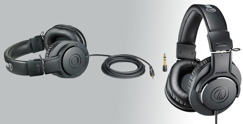 Audio-Technica ATH-M20x - best overall over-ear headphone- under $50